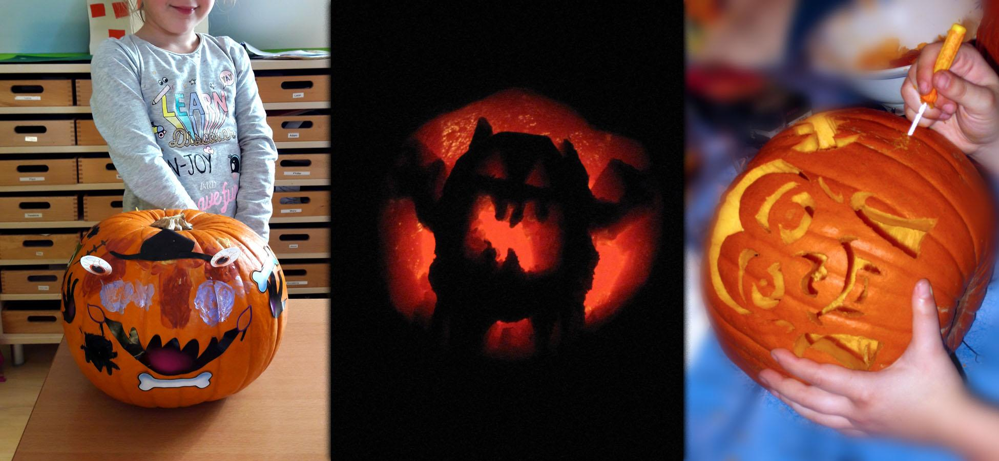 Halloween Kurbisse Gestalten Mit Kindern Schnitzen Bemalen Bekleben